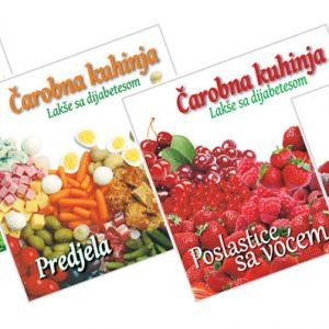 Kuvar za dijabetičare Čarobna kuhinja, komplet od 6 knjiga, 240 različitih recepata za osobe sa dijabetesom