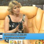 """Dijabetes ishrana: Violeta Orešković Ćurčić, autor kuvara za dijabetičare """"Čarobna kuhinja"""", u emisiji Matine, tv KCN, jun 2019."""
