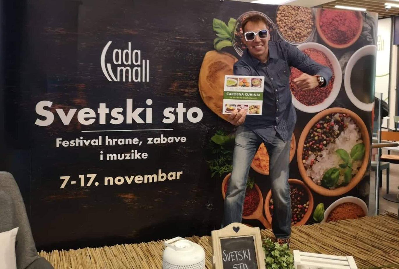 Inspektor Blaža, Festival hrane, Ada mol, promocija kuvara Čarobna kuhinja Violete Orešković Ćurčić, kuvar za dijabetičare, recepti za osobe sa dijabetesom